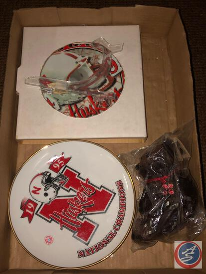 1995 Nat. Championship Collector Plate, 1994 ? 95 Back to Back Huskers plate Nat. Champions,