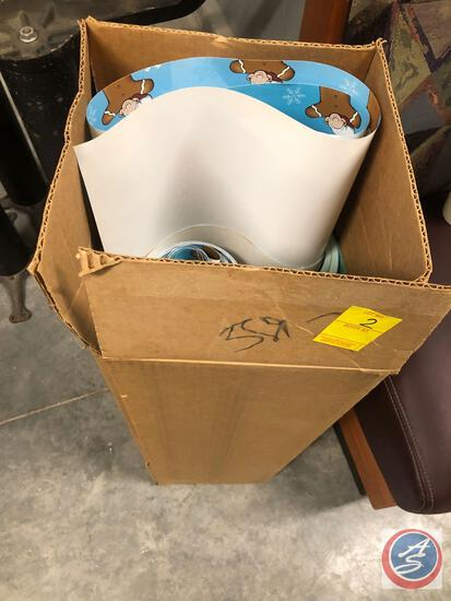 Large Box of Commercial Wrapping Paper Squares