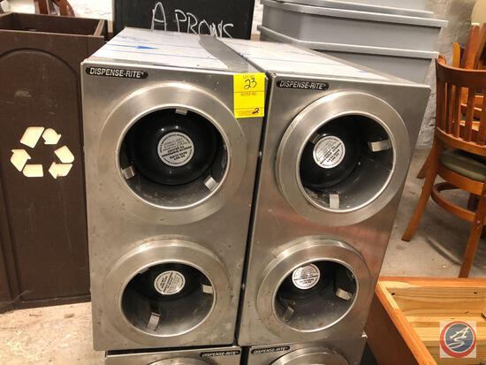 (2) Dispense-Rite Cup Dispensers