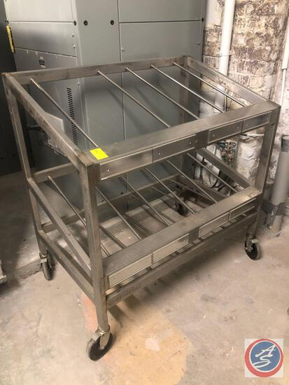 """Self Loading Stainless Steel Rack on Casters 41"""" x 27"""" x 42"""""""
