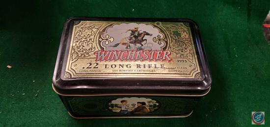 Winchester 22 long rifle 500 round tin