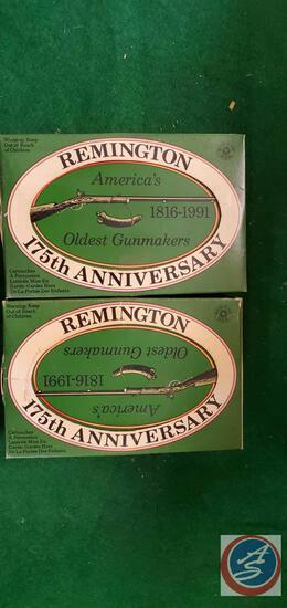 Remington 175 Anniversary tin w/ 325 22 Hi Velocity cartridges (2)