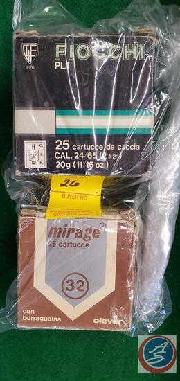 Fiocchi 25 20 cal shotgun shells, Mirage 25 .32 cartridges