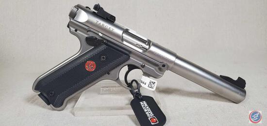Ruger Model Mark IV 22 LR Pistol Semi-Auto Stainless Steel Target Pistol. Ser # WBR127944