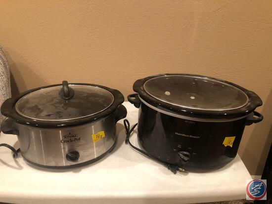 Hamilton Beach SC10 Slow Cooker Model No. 22154, Rival Crock Pot Stoneware Slow Cooker Model No.