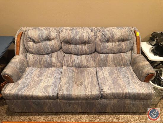 "Couch and Loveseat Measuring 75"" X 35"" X 33"" and 53"" X 34"" X 34"""