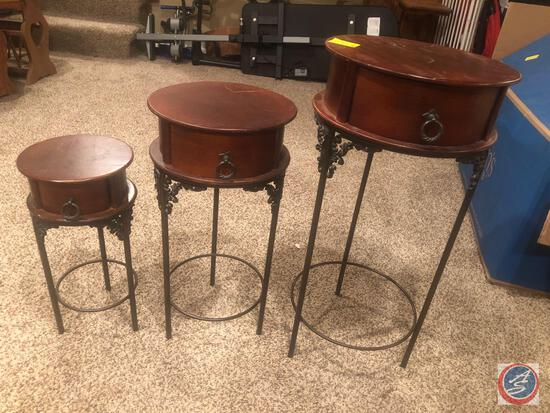 "Set of 3 Nesting Tables 13.5"" X 28"", 22.5"" X 11.25"", and 17.5"" X 8.5"""