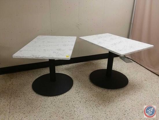 "{{2X$Bid}} 30"" X 24"" X 30"" Marble Tables"