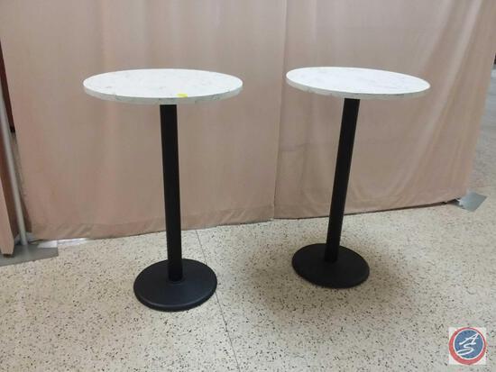 "{{2X$Bid}} 26.5"" X 42.5"" Round Marble Tables"
