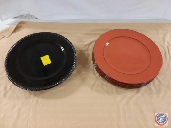 """Home Accents Plastic Plates (13"""")"""