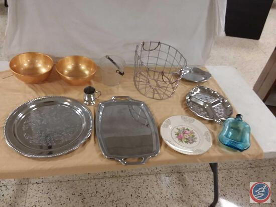 Serving Trays, Bowls, Plate, Baskets,