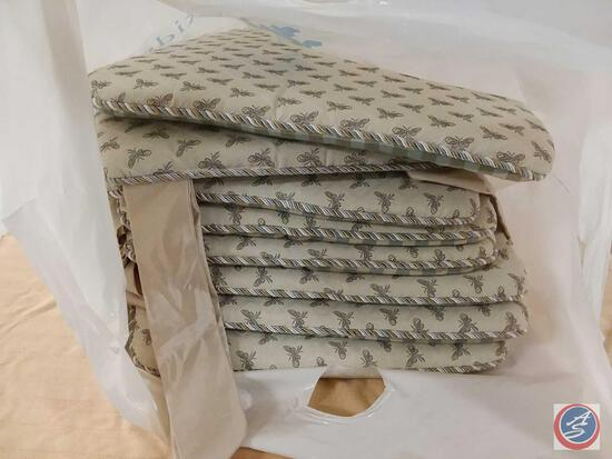 (8) Double Sided Tie on Chair Cushions