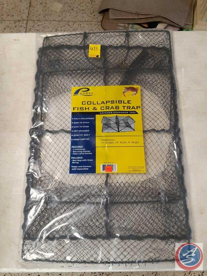 "Promar Collapsible Fish and Crab Trap 24"" X 18"" X 8"""
