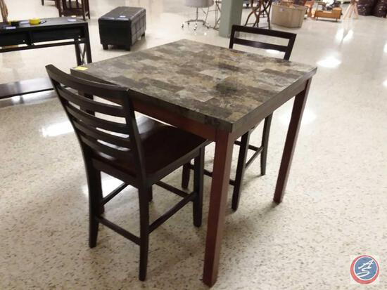 "{{3X$BID}} Dining Table w/ (2) Chairs 36"" x 36"" x 36"""