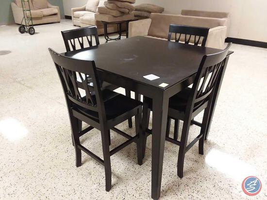 "{{3X$BID}} Dining Table w/ (2) Chairs 42"" x 42"" x 37"""