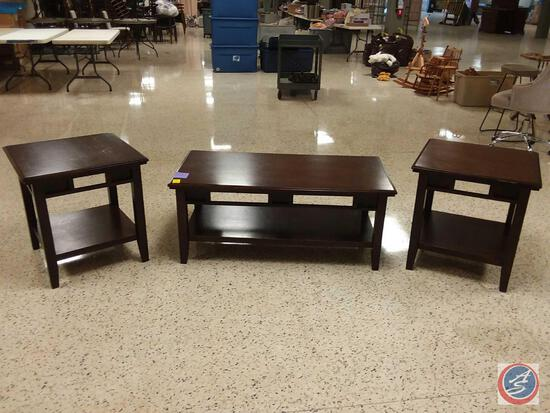 "{{3X$BID}} Coffee Table 48"" x 24"" x 20"", (2) End Tables 24"" x 24"" x 25"""