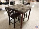 {{3X$BID}} Dining Table w/ (2) Chairs 36