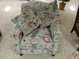 Upholstered and Padded Arm Chair