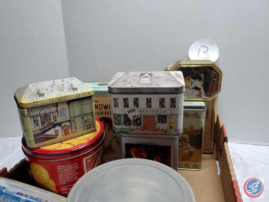 Empty Tins Orville Redenbakker, Oreo, Fig Newton Etc.