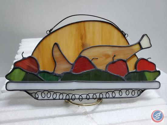 Lot New 10 Turkey stained glass Wall Hanging Kitchen Decor