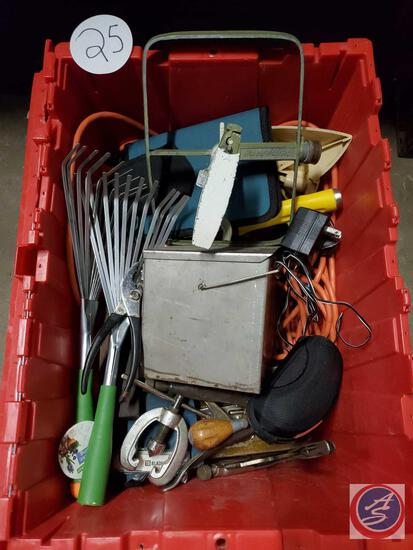 Red tote large tool Lot
