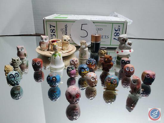 Miniature Owl Lot