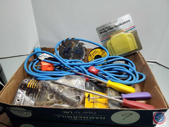 Mixed Lot of Tools and Electrical Cord, Garage Items