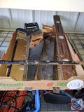 Crowbar, Lot of Saws, Level