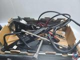 Flat of jacks, jumper cables, automotive