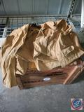 Large Wooden Crate and Vintage Hunting Jacket