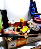 Bowie Knives, New gun cleaning patches, folding triangle stools, Catmaster Fishing Line, Lubricant