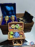 brass cup set, scale and Mini picnic