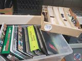 Box Lot of Binders and Large Divided Box of Sports Cards