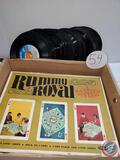 Rummy Royal Game and loose 45 record albums
