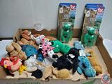 Flat of Beanie Babies most with tags