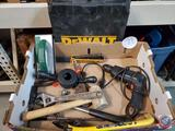Tool Lot Bostitch Stapler, wooden mallet, Black & Decker Drill, Wrench, HackSaw