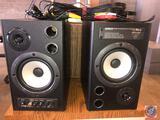 (2) speakers; Behringer MS40 digital 40 watt Stereo Near Field Monitors 24 Bit / 192 kHz; website: