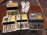 (4) calculators: (1) is a Sharp Compet model CC-2850 calculator; (1) is a Sharp Compet model CC-2790