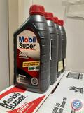 Mobil Clean 5000 Lubricant Oil SAE 10W-30 (10 Cases of 12, Plus 4 Bottles)