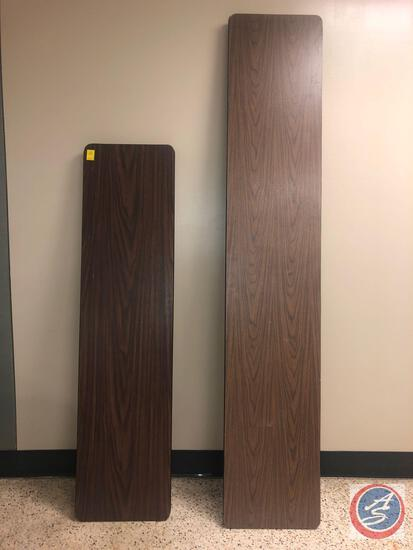 "{{2X$BID}} Laminate Folding Table Measuring 72"" x 18'', Laminate Folding Table Measuring 96"" x 18"""