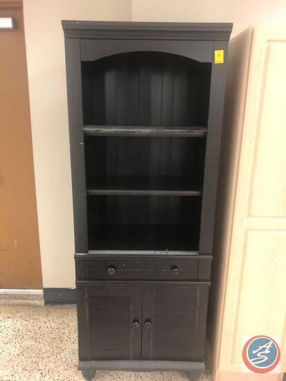 Bookshelf w/ One Drawer and Two Cabinet Doors Measuring 27'' x 16'' x 72''