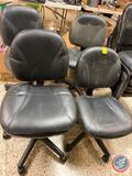 (4) Rolling and Adjustable Desk Chairs
