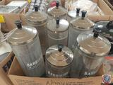 Barbicide and Marvy Disinfectant Jars with Lids