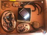Native American Hall Mark Belt Buckle, Sears Roebuck and Co. Pocket Watch, Other Belt Buckle, More