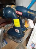 Ryobi Shop Flash Light Model No. FL1800, Ryobi 3 Speed Hand Drill, Ryobi 18V Battery {{NO CHARGER,