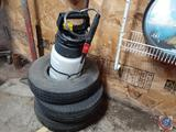 Round-Up Sprayer, (3) King Tires (Small) Information Is Not Visible