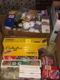 Assorted Light Bulbs, Cabala's Vacuum Bags, Beef Jerky Spices, More