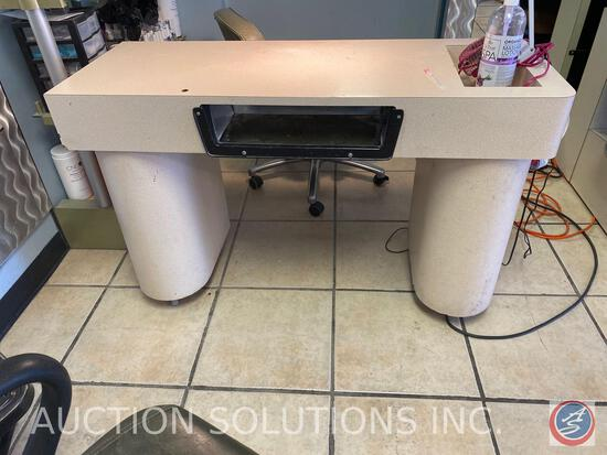 "Nail Station with Cabinet Space 48"" X 46"" X 18"""