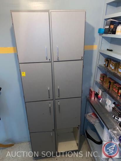Locker Cabinet Storage 32'' x 25'' x 72'' (One Missing Door)