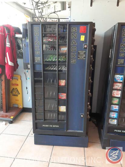 "Snack and Drink Machine 60"" X 34"" X 32"""